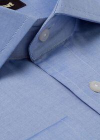 Slim Fit Blue Cotton Dress Shirt, thumbnail 2