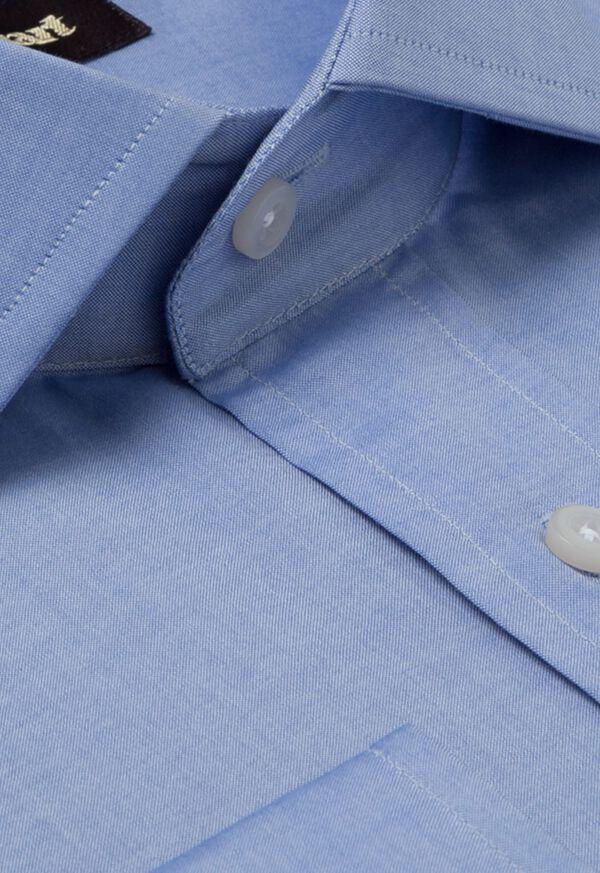 Slim Fit Blue Cotton Dress Shirt, image 2