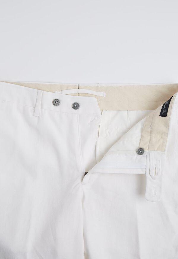 White Linen Blend Trouser, image 3