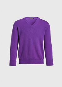 Scottish Cashmere V-Neck Sweater, thumbnail 1