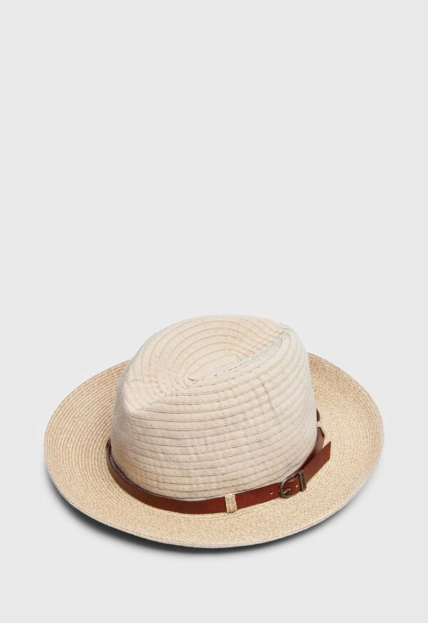 Grosgrain Hat with Leather Band, image 1