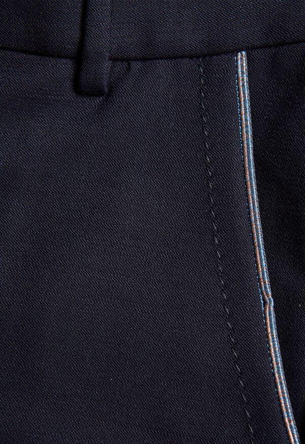Wool Blend Trouser with Metallic Detail, image 2