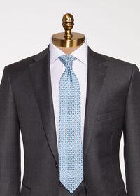 Allover Pine Silk Tie, thumbnail 2