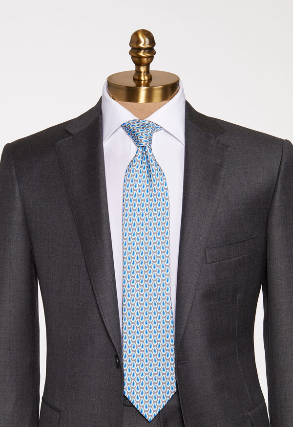 Allover Pine Silk Tie, image 2