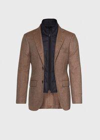 Cashmere Tan Melange Vest Jacket, thumbnail 3