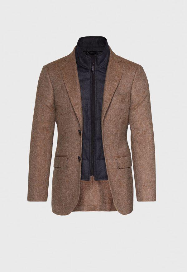 Cashmere Tan Melange Vest Jacket, image 3