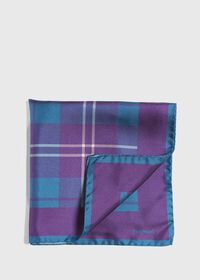 Plaid Pocket Square With Contrast Border, thumbnail 1