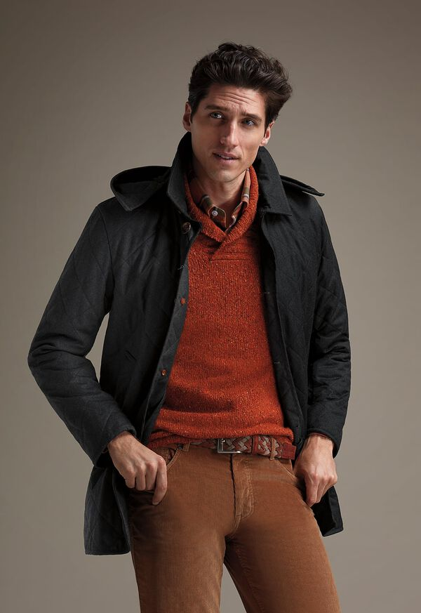 FW21 Paul Stuart Catalog Quilted Coat and Corduroy Look, image 1