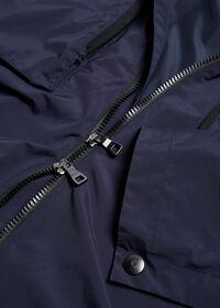 Navy Solid Cape Jacket, thumbnail 5