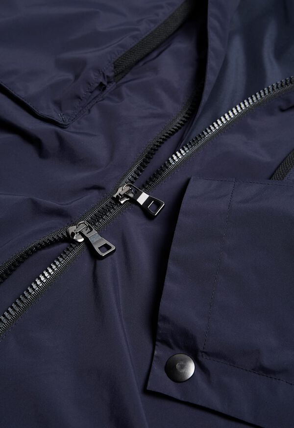 Navy Solid Cape Jacket, image 5