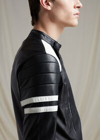 Black Leather Motorcycle Jacket, thumbnail 4