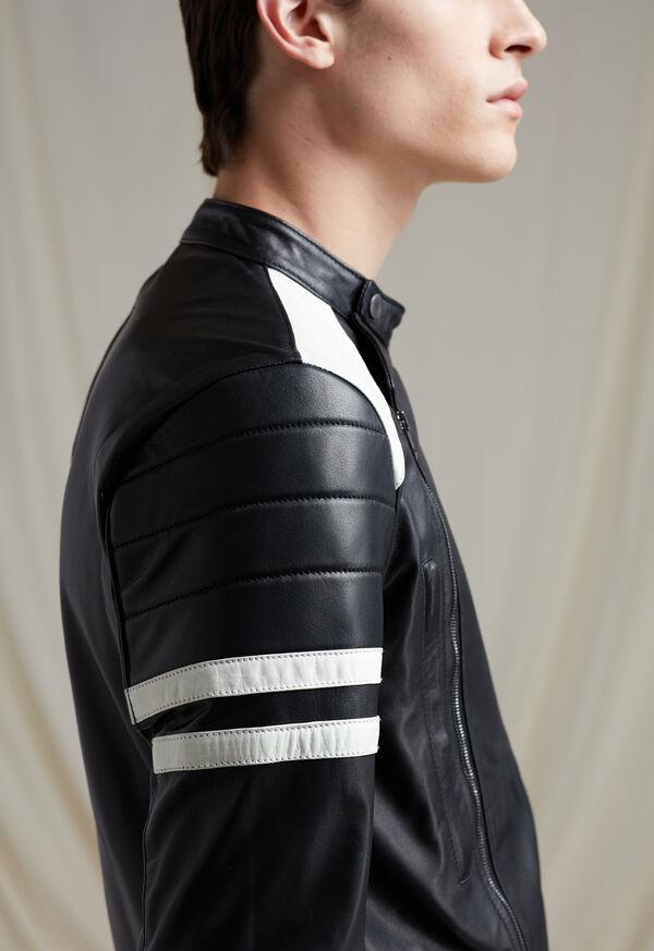 Black Leather Motorcycle Jacket, image 4