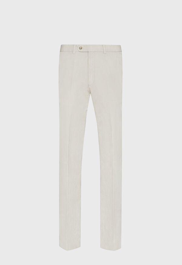 Khaki Cotton Stretch Pant, image 1