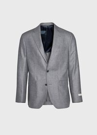Grey Solid Soft Jacket, thumbnail 1