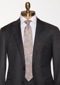 Linen Paisley Tie, thumbnail 2
