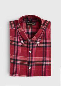 Plaid Brushed Flannel Sport Shirt, thumbnail 1