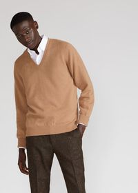 Scottish Cashmere V-Neck Sweater, thumbnail 2