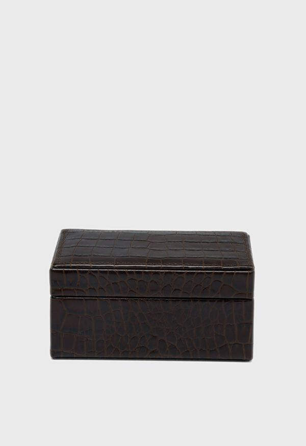 Embossed Leather Small Jewelry Box, image 3