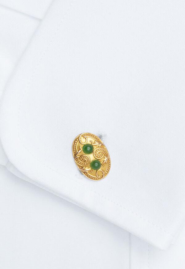 14K Gold Vintage Cufflinks Circa 1920, image 2