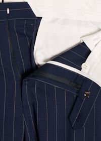 Navy and White Stripe Travel Suit, thumbnail 6