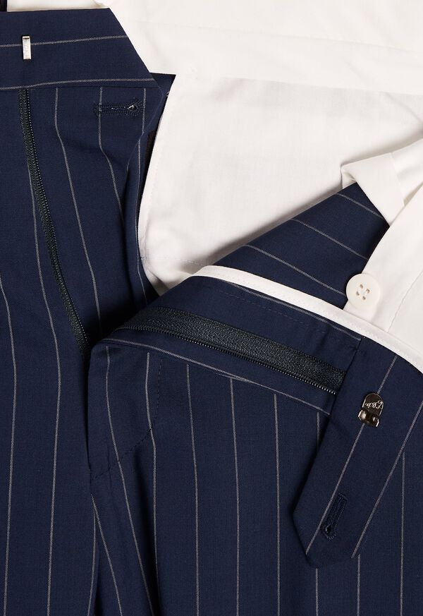 Navy and White Stripe Travel Suit, image 6