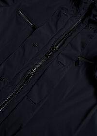 Navy Nylon Blazer Jacket, thumbnail 3