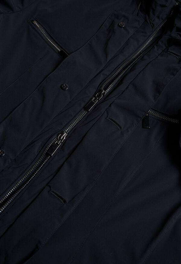 Navy Nylon Blazer Jacket, image 3