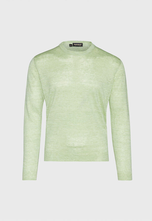 Linen Crewneck Sweater, image 1