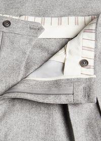 Straight Leg Pleated Wool Flannel Pant, thumbnail 2
