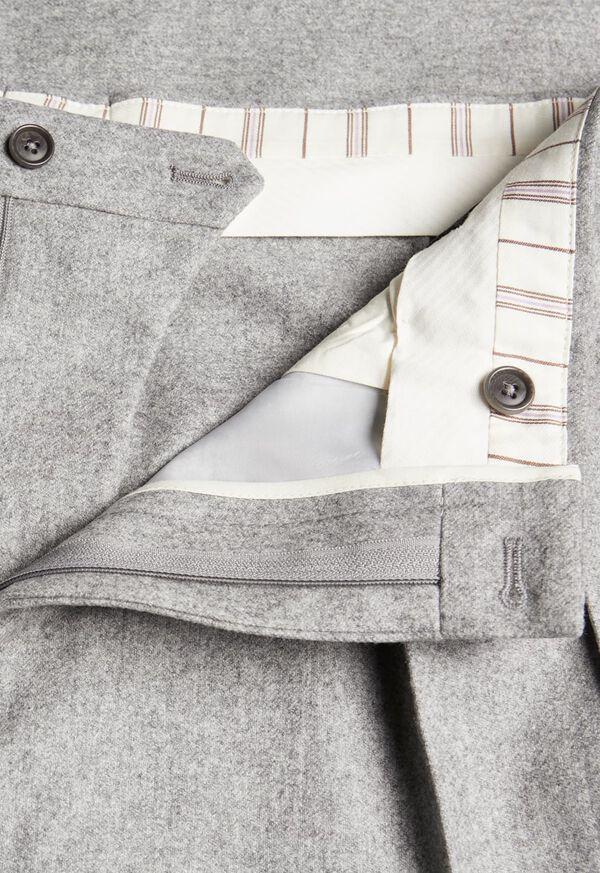 Straight Leg Pleated Wool Flannel Pant, image 2