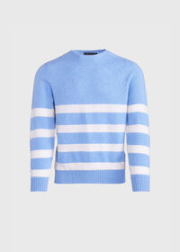 Crew Neck Stripe Sweater, thumbnail 1