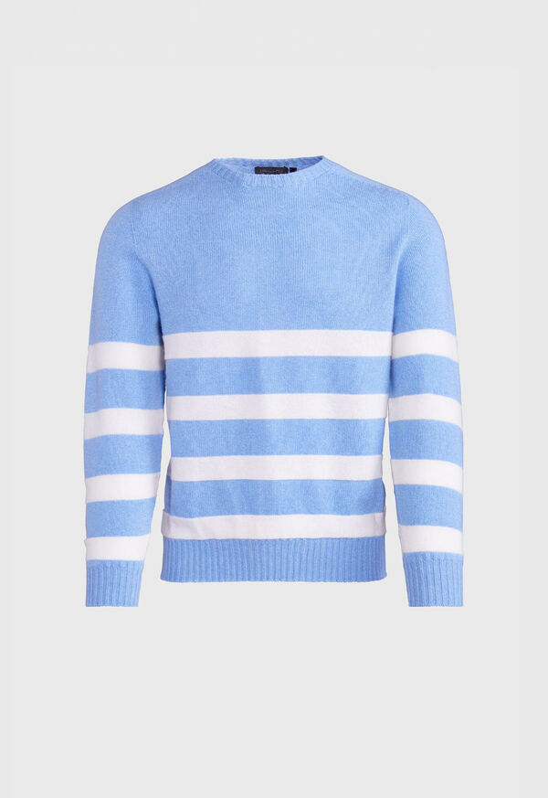 Crew Neck Stripe Sweater, image 1