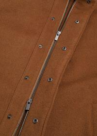 Cashmere Car Coat with Removable Fur Trim, thumbnail 3