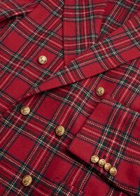 Wool Red Tartan Double Breasted Jacket, thumbnail 3