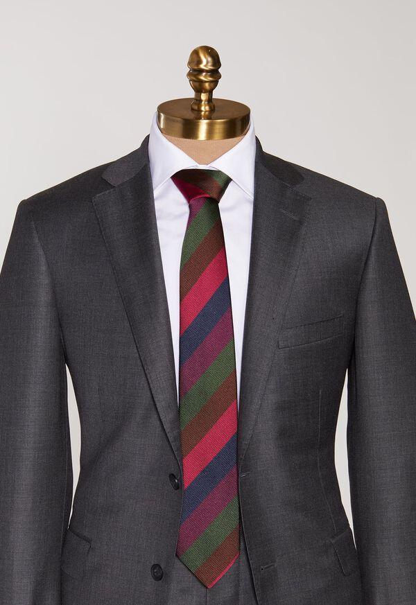 Multi Color Bar Stripe Tie, image 2