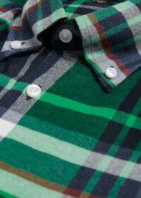 Plaid Brushed Flannel Sport Shirt, thumbnail 2