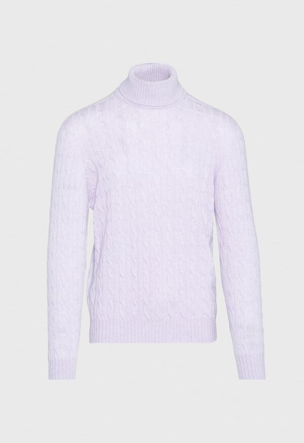 Scottish Cashmere Cable Knit Turtleneck, image 1