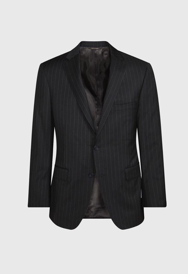 Black and White Chalk Stripe Suit, image 3
