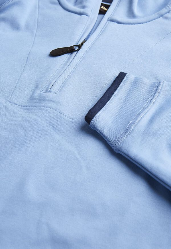 Pima Cotton 1/2 Zip Sweater, image 2