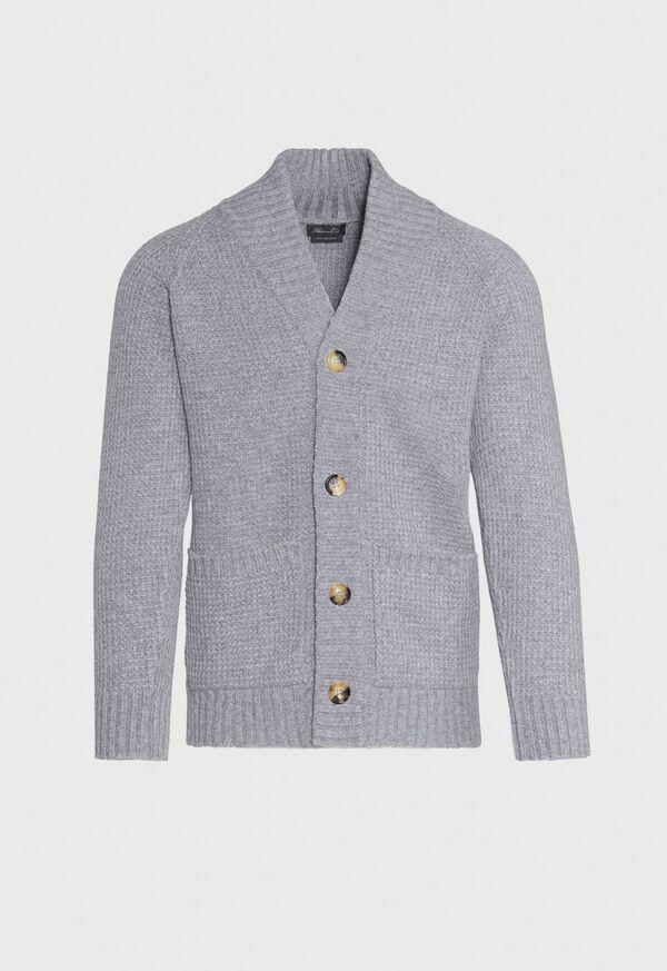 Scottish Cashmere Shawl Collar Cardigan, image 1