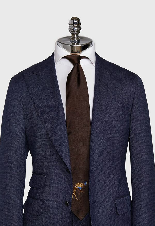 Pheasant Silk Tie, image 2