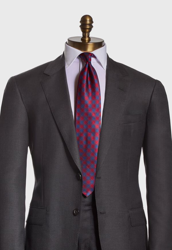 Gingham Check Silk Tie, image 2