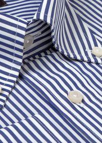 Navy Bengal Stripe Cotton Dress Shirt, thumbnail 2