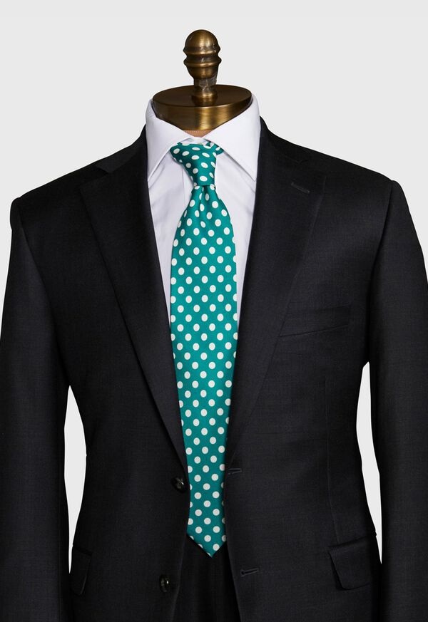 Large Dot Silk Tie, image 2