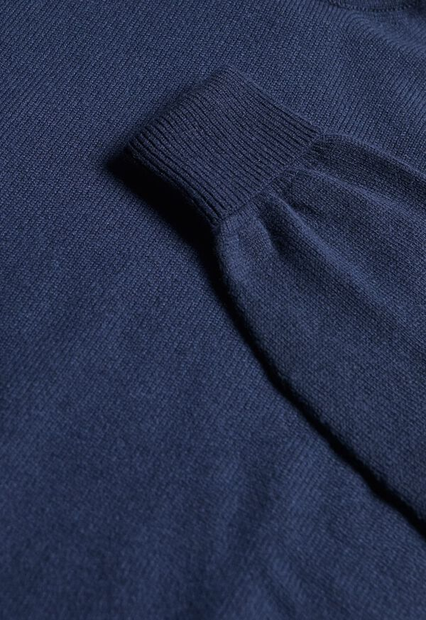 Classic Cashmere Double Ply Turtleneck Sweater, image 2
