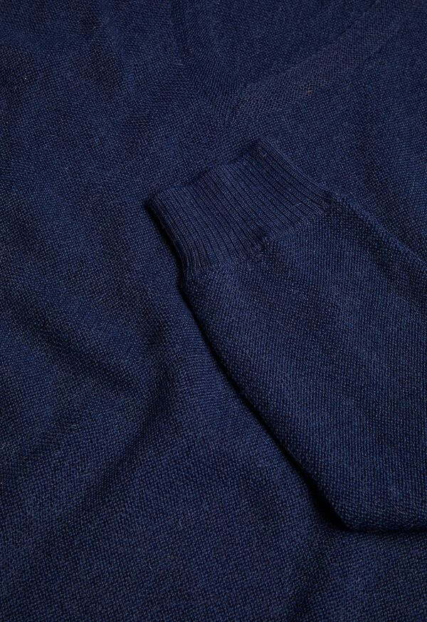 Classic Alpaca Links V-Neck Sweater, image 2