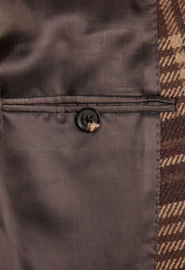 Soft Shoulder Wool Blend Plaid Sport Jacket, image 4