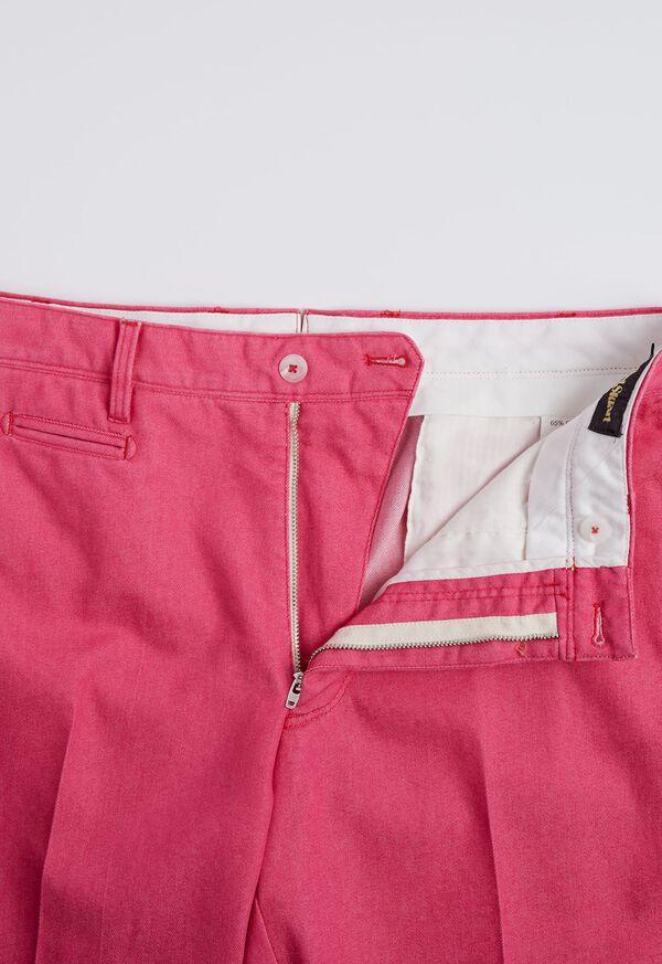 Pink Cotton Blend Denim Pant, image 4