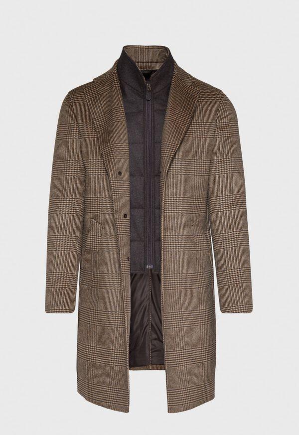 Plaid Coat with Zip-Out Vest, image 2