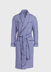 Gingham Check Robe, thumbnail 1